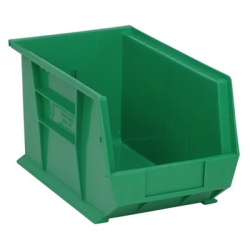 "13-5/8""L x 8-1/4""W x 8""H Green Quantum® Ultra Series Stack & Hang Bin"