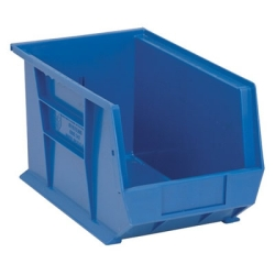"13-5/8""L x 8-1/4""W x 8""H Blue Quantum® Ultra Series Stack & Hang Bin"