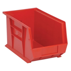 "13-5/8""L x 8-1/4""W x 8""H Red Quantum® Ultra Series Stack & Hang Bin"