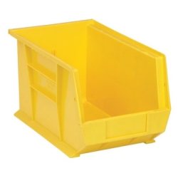 "13-5/8""L x 8-1/4""W x 8""H Yellow Quantum® Ultra Series Stack & Hang Bin"