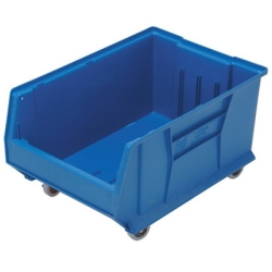 "23-7/8""L x 16-1/2""W x 11""H Blue HULK Mobile Bin"