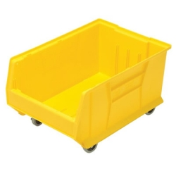 "23-7/8""L x 16-1/2""W x 11""H Yellow HULK Mobile Bin"