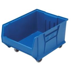 "23-7/8""L x 18-1/4""W x 12""H Blue Mobile HULK Bin"