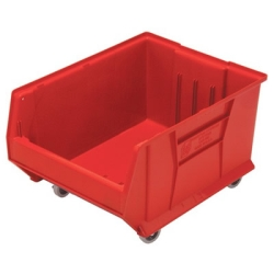 "23-7/8"" L x 18-1/4"" W x 12"" Hgt. Red HULK Mobile Bin"