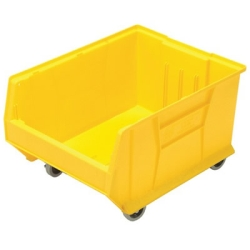 "23-7/8""L x 18-1/4""W x 12""H Yellow HULK Mobile Bin"