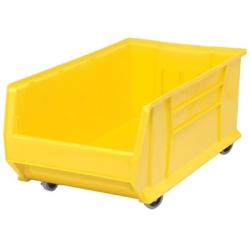 "29-7/8""L x 16-1/2""W x 11""H Yellow HULK Mobile Bin"