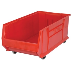 "29-7/8""L x 16-1/2""W x 11""H Red HULK Mobile Bin"