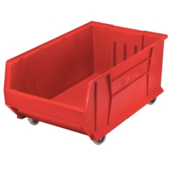 "29-7/8""L x 18-1/4""W x 12""H Red HULK Mobile Bin"