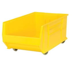 "29-7/8""L x 18-1/4""W x 12""H Yellow Mobile HULK Bin"