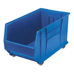 "29-7/8""L x 16-1/2""W x 15""H Blue Mobile HULK Bin"