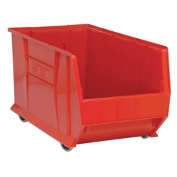 "29-7/8"" L x 16-1/2"" W x 15"" Hgt. Red HULK Mobile Bin"