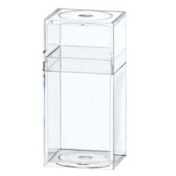 "Clear Plastic Box with Removable Lid 1-3/16"" L x 1-3/16"" W x 2-7/16"" Hgt."