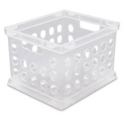 Sterilite ® Frosted Clear Small Storage Crate - 9.25