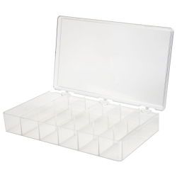 K-Resin® Transparent Storage Box with Six Compartments