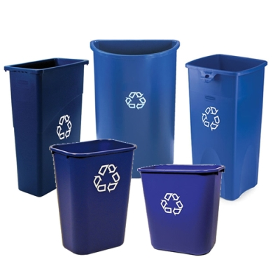 Rubbermaid® Desk-Side & Station Recycling Containers
