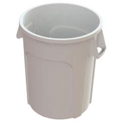 32 Gallon White Value Plus Trash Container