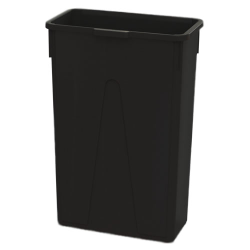23 Gallon Black Slim Container