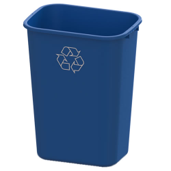 41 Quart Blue Recycling Wastebasket