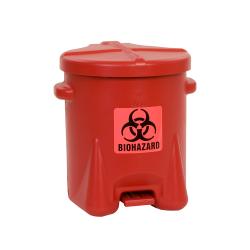 6 Gallon Red Eagle Safety Biohazardous Waste Can