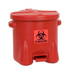 10 Gallon Red Eagle Safety Biohazardous Waste Can
