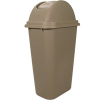 Rubbermaid® Untouchable® Top/Soft Wastebasket Combo