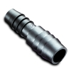 "1/2"" Hose ID x 3/8"" Hose ID Black HDPE Reducer Connector"