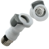 "1/4"" OD In-line Ferruleless Polytube APC Series Acetal Coupling Body w/Shroud  - Shutoff (Insert Sold Separately)"