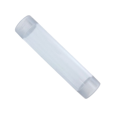 "1/2"" x 6"" Clear PVC Pipe Nipple"