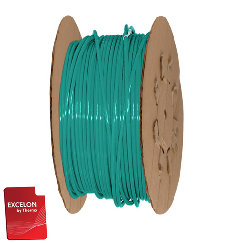 "1/4"" OD x .040"" Wall Green Excelon LDPE Flexible Tubing"