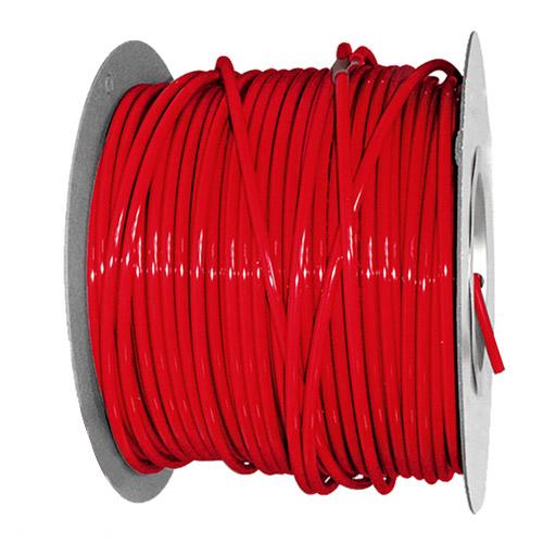 "1/2"" OD x .062"" Wall Red Excelon Polyethylene Tubing"