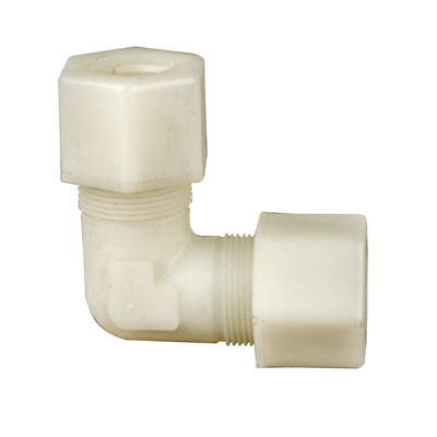 "3/8"" OD Tube Jaco Kynar® PVDF Elbow Tube Fitting"