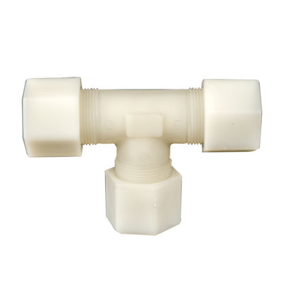 "3/8"" OD Tube Jaco Polypropylene Tee Tube Fitting"