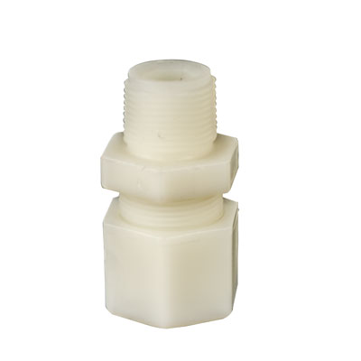 "1/2"" OD Tube x 1/4"" MPT Jaco Polypropylene Male Coupling"
