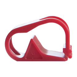 Red 1 Position Polypropylene Tubing Clamp for Tubing up to 0.50