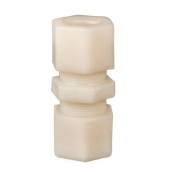 "1/4"" OD Tube Jaco Polypropylene Union Tube Fitting"