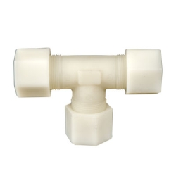 "1/8"" OD Tube Jaco Nylon Tee Tube Fitting"