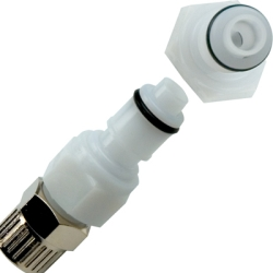 "1/4"" OD In-line Ferruleless Polytube APC Series Acetal Insert - Shutoff (Body Sold Separately)"