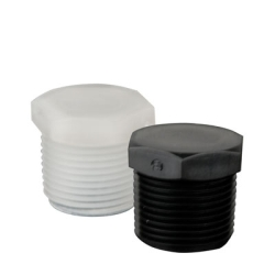 1/4-28 UNF Black Nylon Threaded Plug