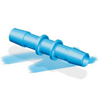 "1/4"" Eldon James™ Antimicrobial HDPE Coupler"