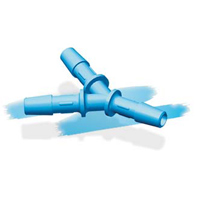 Eldon James™ Antimicrobial HDPE Y Connectors