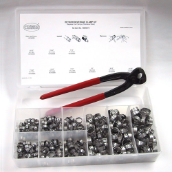 Stepless Ear Clamp Beverage Kit with Side Jaw Pincer