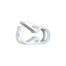 White 1 Position Acetal Tubing Clamp for Tubing up to 0.25