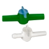 "10mm Bore 3/8"" HDPE Miniature Stopcock (Green)"
