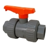 "1/2"" Threaded/Socket PVC Tru-Bloc® Ball Valve with FKM O-rings"