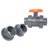 "1/2"" Threaded/Socket PVC TB Series Ball Valve with EPDM O-rings"