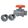 "1/2"" Threaded/Socket CPVC TB Series Ball Valve with EPDM O-rings"