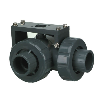 "1-1/2"" Socket/Threaded HCLA Series PVC Three Way Lateral Valve with FKM O-rings"