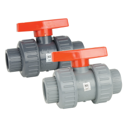 "4"" Socket CPVC True Block Union Ball Valve with FKM O-rings"