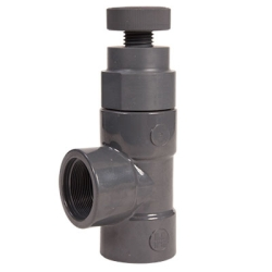 "1-1/2"" AV Series Threaded PVC Angle Globe Valve"
