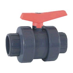 "1-1/2"" Socket/Thread Combo PVC Valve with FKM O-rings"